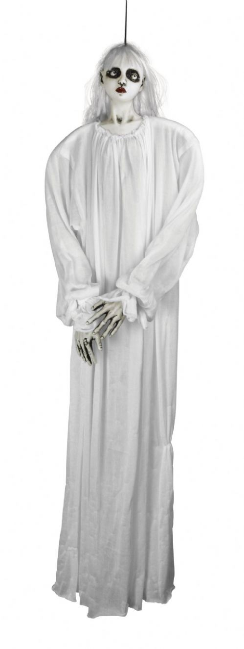 "Halloween Hanging Female Ghost White 48"" Trick Or Treat Party Decoration"